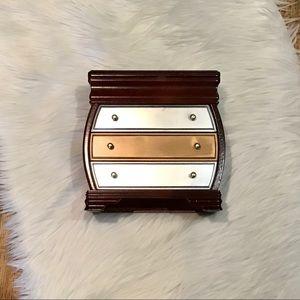 Refurbished jewelry box - cherry and mixed metals